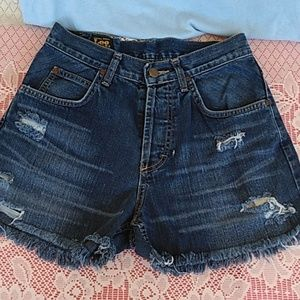 Vintage Lee Riders Cut Off Jean Shorts Sz 29